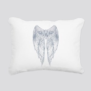 wings on back Rectangular Canvas Pillow