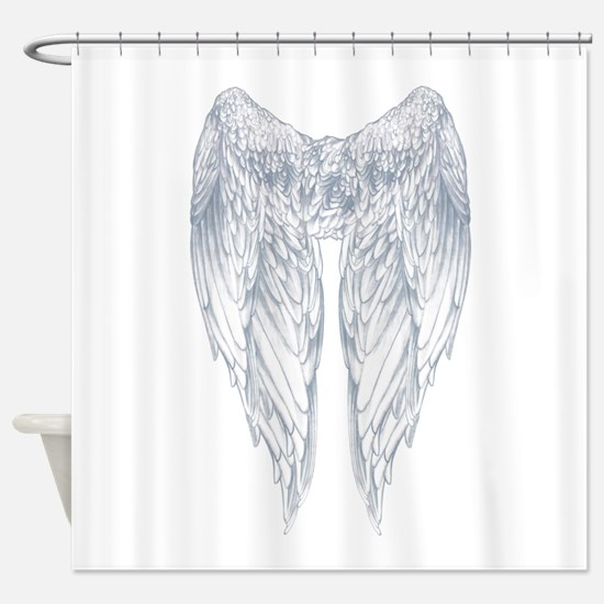 wings on back Shower Curtain