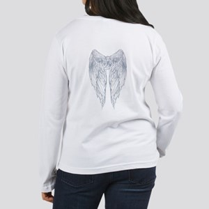 wings on back Women's Long Sleeve T-Shirt