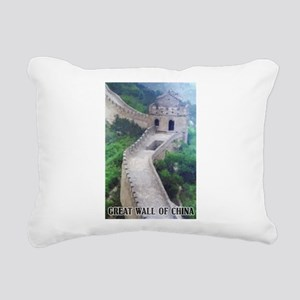Great Wall Of China Rectangular Canvas Pillow