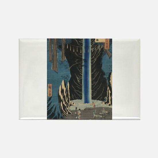 Fudo Falls Oji - Hiroshige Ando - 1857 Magnets