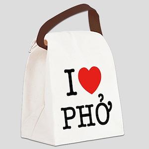 I Love (Heart) Pho Canvas Lunch Bag