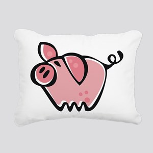 Cute Cartoon Pig Rectangular Canvas Pillow