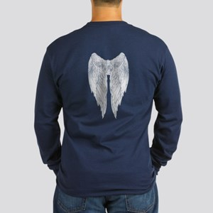 wings on back Long Sleeve Dark T-Shirt