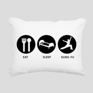 Eat Sleep Kung Fu Rectangular Canvas Pillow