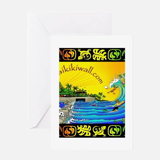 Waikiki Wall Greeting Card