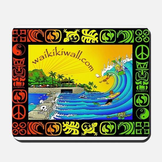Waikiki Wall Mousepad