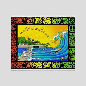 Waikiki Wall Throw Blanket