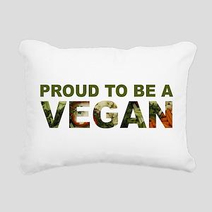 Proud To Be A Vegan Rectangular Canvas Pillow