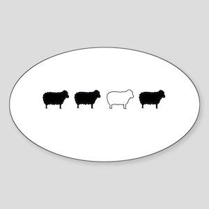 black sheep Sticker (Oval)