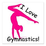 "Gymnastics Car Magnet 3"" x 3"""