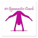 "Gymnastics Coach Car Magnet 3"" x 3"""
