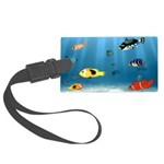 Oceans Of Fish Large Luggage Tag