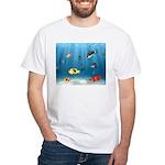 Oceans Of Fish White T-Shirt