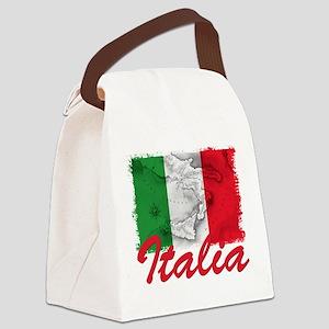 italia rectangle sticker Canvas Lunch Bag