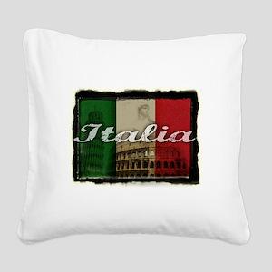 2-Italia Square Canvas Pillow