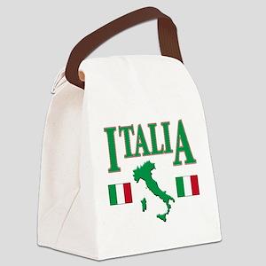 Italia(blk) Canvas Lunch Bag