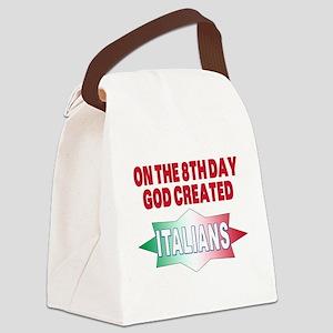 GOD CREATED ITALIANS(BLK) Canvas Lunch Bag