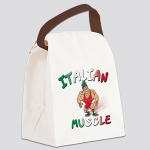 Italian muscle T-Shirt Canvas Lunch Bag