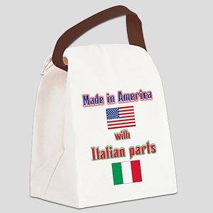 Italian American made(bwhite) Canvas Lunch Bag