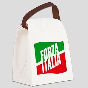 forza azzurri (blk) Canvas Lunch Bag