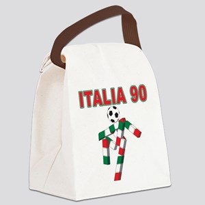 Italian soccer logo(blk) Canvas Lunch Bag