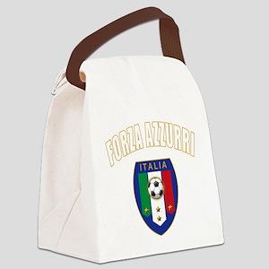 Italian forza azzurri Canvas Lunch Bag