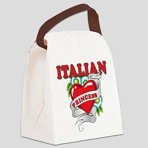 italian princess(blk) Canvas Lunch Bag