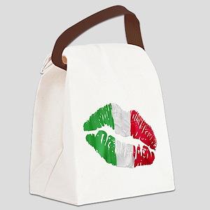 bacio(blk) Canvas Lunch Bag