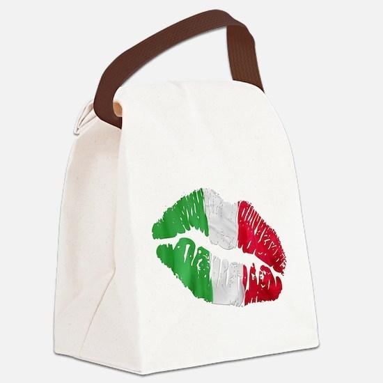 bacio(blk).png Canvas Lunch Bag