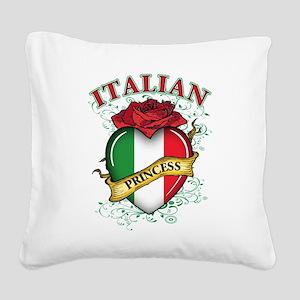 italian princess(blk) Square Canvas Pillow