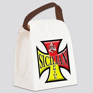 Siclia oval sticker a Canvas Lunch Bag