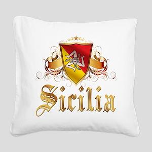 3-sicilian pride Square Canvas Pillow