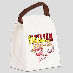 Italian girls rule T-Shirt(blk) Canvas Lunch B