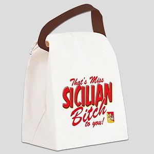 sicilian bitch T-Shirt Canvas Lunch Bag