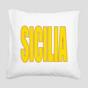 SICILIA V3(BLK) Square Canvas Pillow