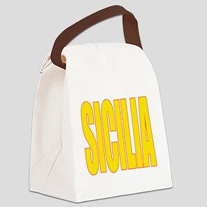 SICILIA V3(BLK) Canvas Lunch Bag