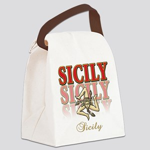 sicily2(blk) Canvas Lunch Bag