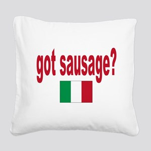 itt aint sauce(blk) Square Canvas Pillow