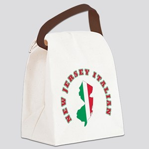 new jersey italian Canvas Lunch Bag