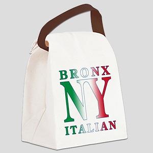 bronx italian.white Canvas Lunch Bag