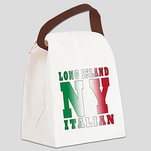 italian Long island T-Shirt Canvas Lunch Bag