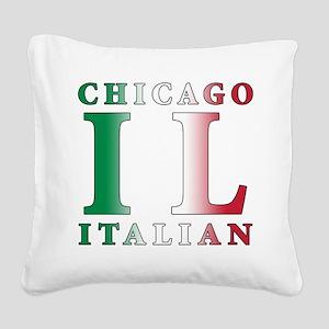 chicago Italian Square Canvas Pillow