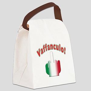 Italian vaffanculo(white) Canvas Lunch Bag