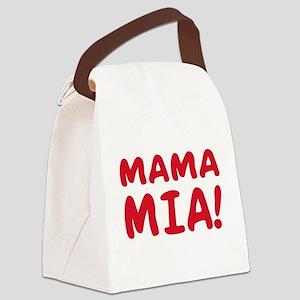 2-Mama mia(blk) Canvas Lunch Bag