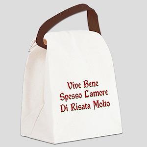 Vive bene T-Shirt Canvas Lunch Bag