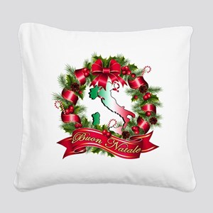 buon natale bb Square Canvas Pillow