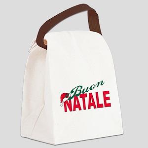 buon natale(blk)hat Canvas Lunch Bag