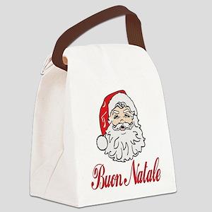 buon natale ornament circle Canvas Lunch Bag
