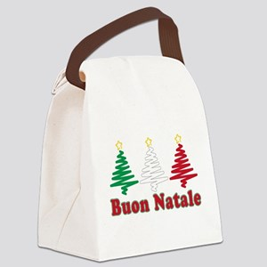 Buon Natale Flag Canvas Lunch Bag